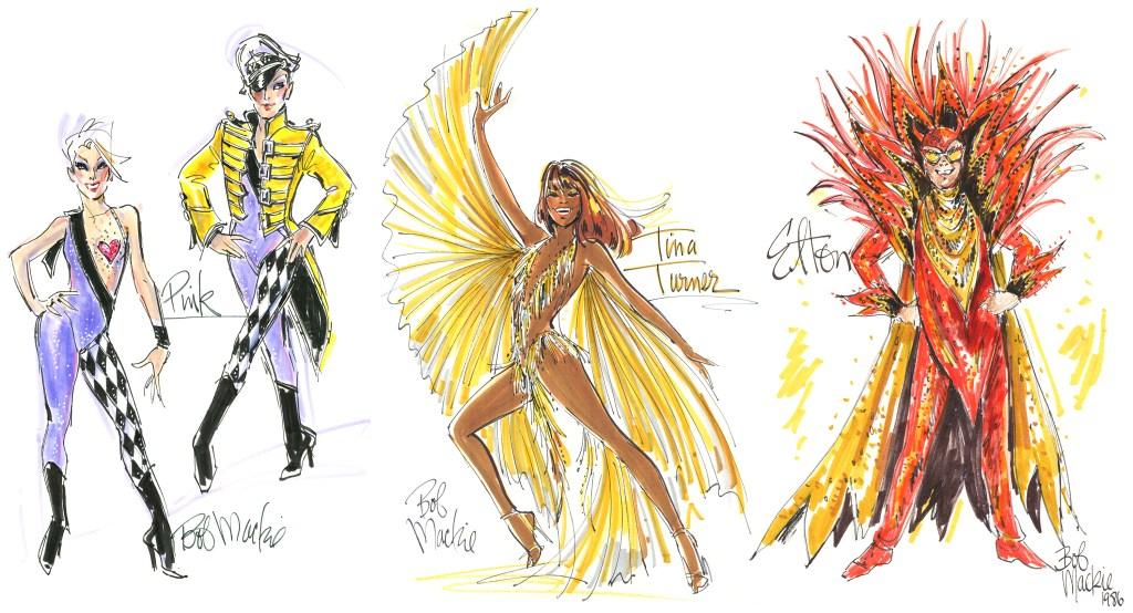 Bob Mackie Shares Sketches of Cher, Madonna, Elton John, Pink ...