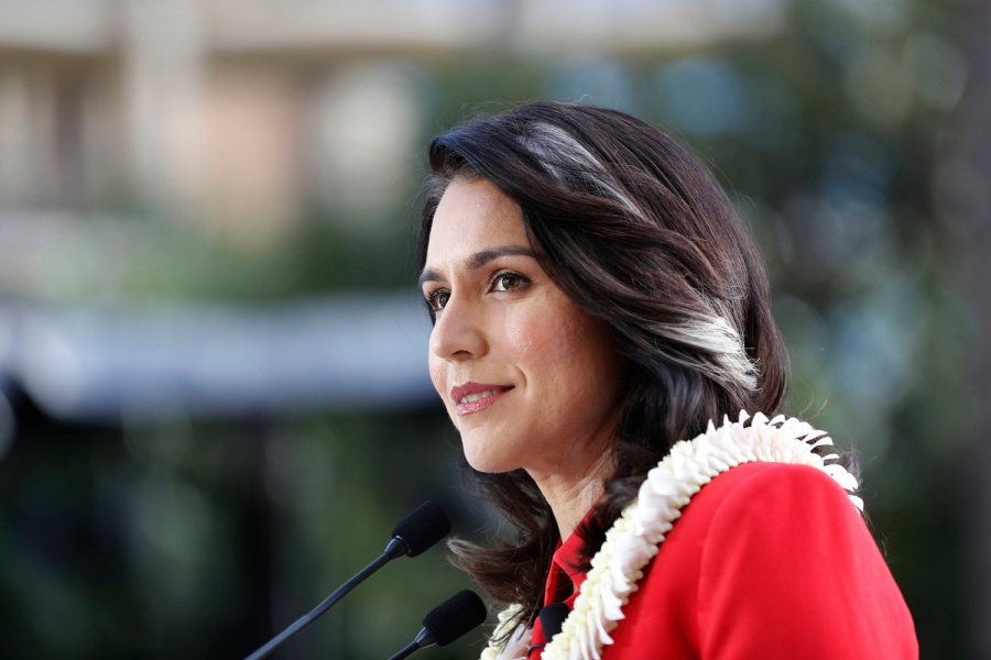 U.S. Rep. Tulsi Gabbard, D-Hawaii, speaks during a campaign rally announcing her candidacy for president in Waikiki, in HonoluluElection 2020 Tulsi Gabbard, Honolulu, USA - 02 Feb 2019