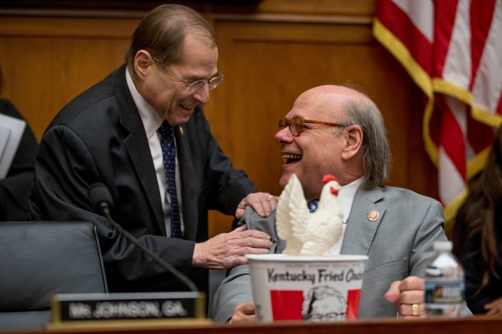 Not so funny was the chairman's threat to hold Barr in contempt of court if he fails to comply with a subpoena for the unredacted Mueller report.