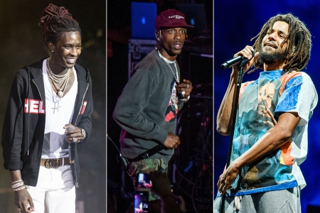 J Cole Steals Show Next To Young Thug And Travis Scott On