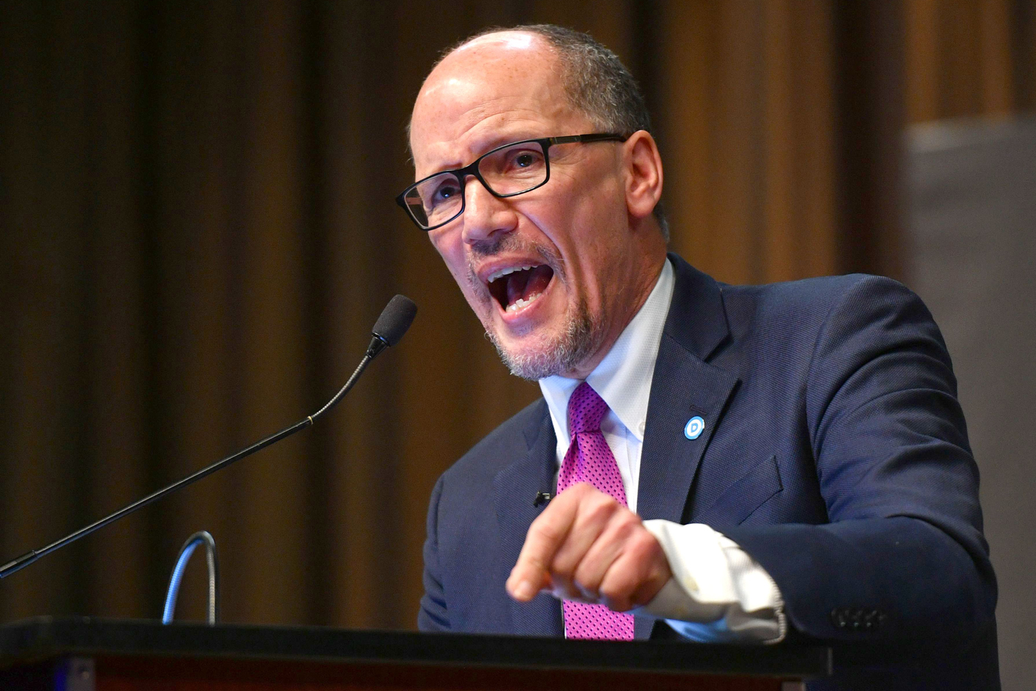 Tom Perez, Chairman, Democratic National CommitteeNational Action Network convention, New York, USA - 03 Apr 2019