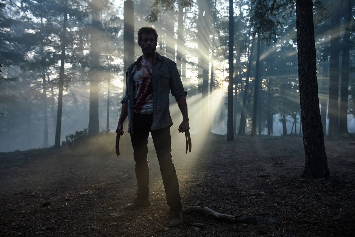 "Editorial use only. No book cover usage.Mandatory Credit: Photo by Ben Rothstein/Marvel/Kobal/Shutterstock (8470433d)Hugh Jackman""Logan"" Film - 2017"