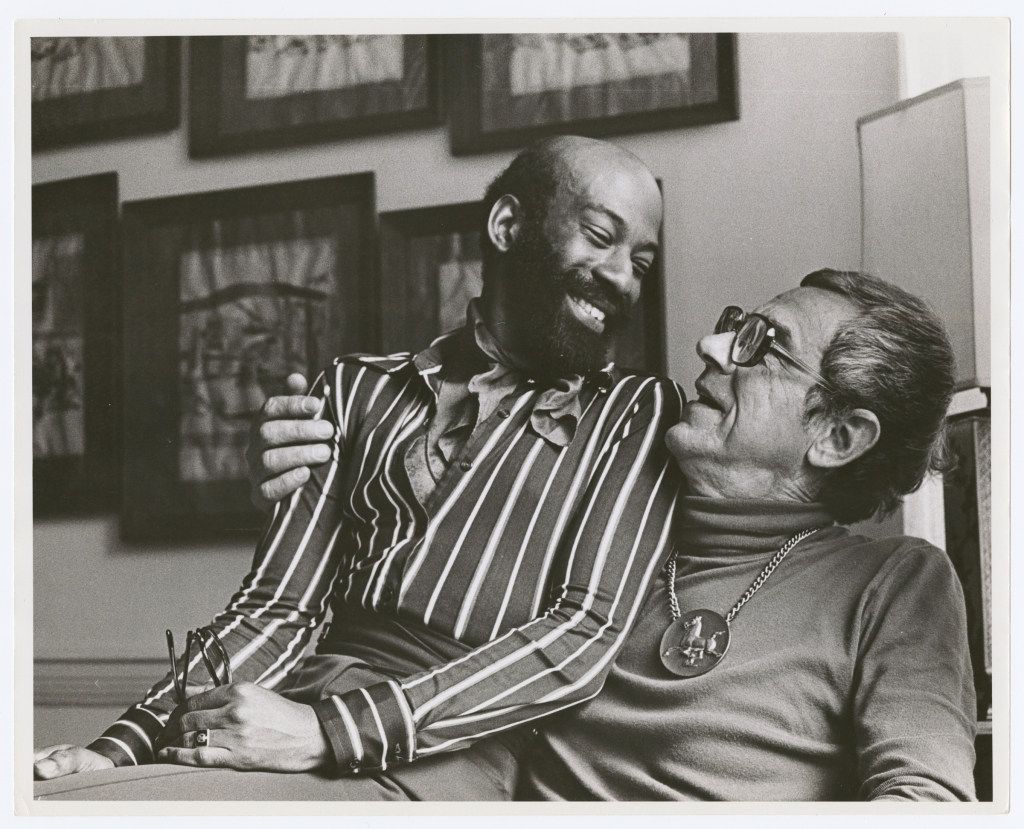 """In 1971, Kay Tobin Lahusen traveled around the country to document gay and lesbian couples. """"Some of them were activists,"""" says Baumann, """"but some of them just brave people who were willing to be public in a way that you couldn't in the 1960s."""" She often sought out older couples, who, like she and her partner, had been together for decades. """"Anything to show that these relationships weren't fleeting encounters; that a relationship can be lifelong."""" Her archive now has about 1,000 images of gay couples from this era, celebrating their gayness in the face of the law."""