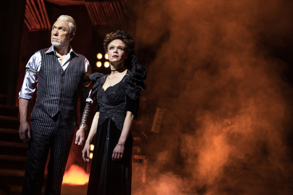 hadestown, broadway, Patrick Page, Amber Gray