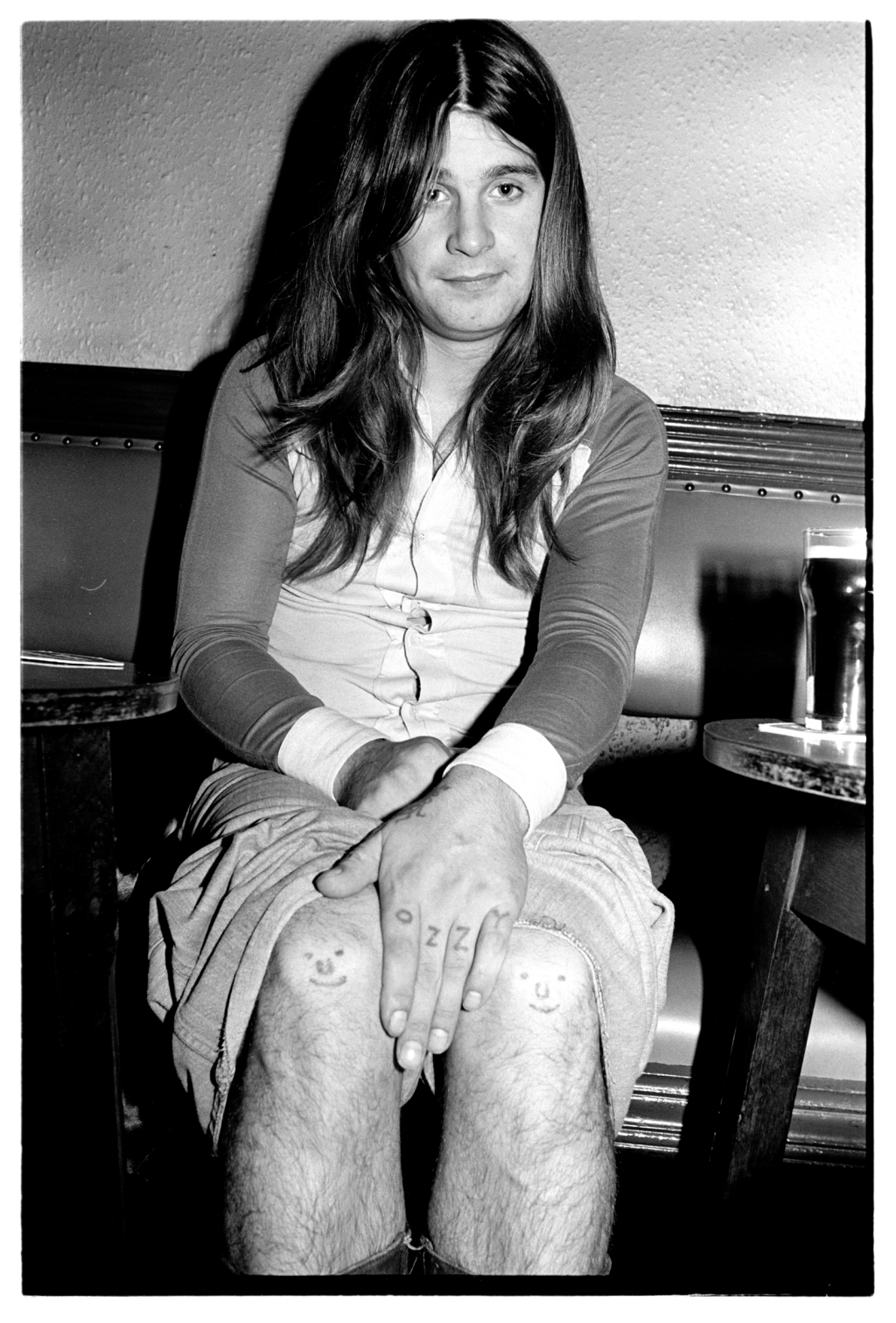 """I was on the road with bands like the Who, Lynyrd Skynyrd and Black Sabbath because I was on staff at a British weekly called Sounds. I just love that picture of Ozzy, there was something very personable about him…I asked him ""where'd you get these tattoos?, and he told me he gave them to himself when he was in prison."""