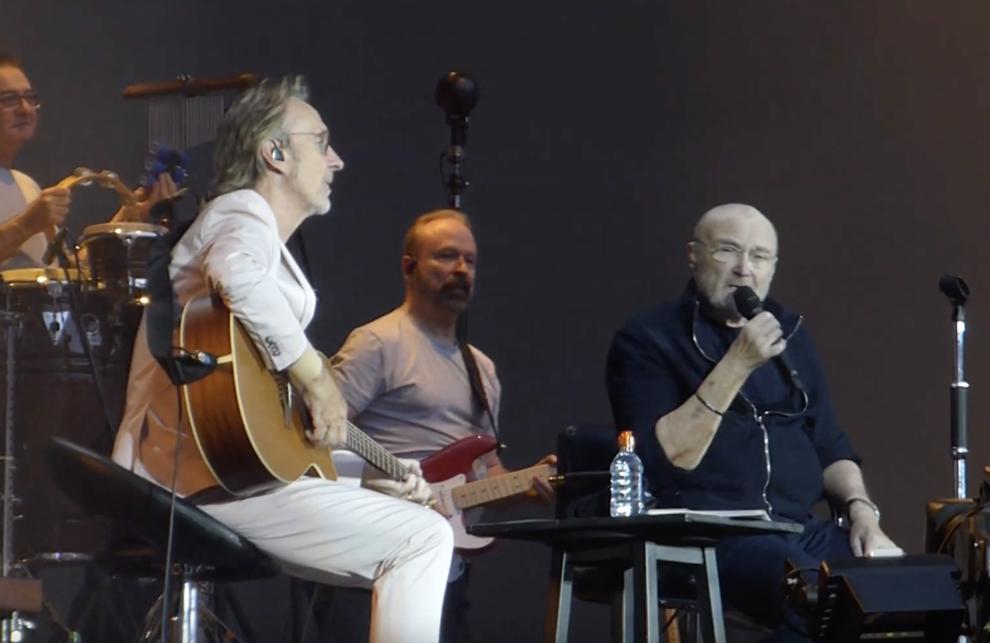 Watch Phil Collins Reunite With Genesis Guitarist Mike