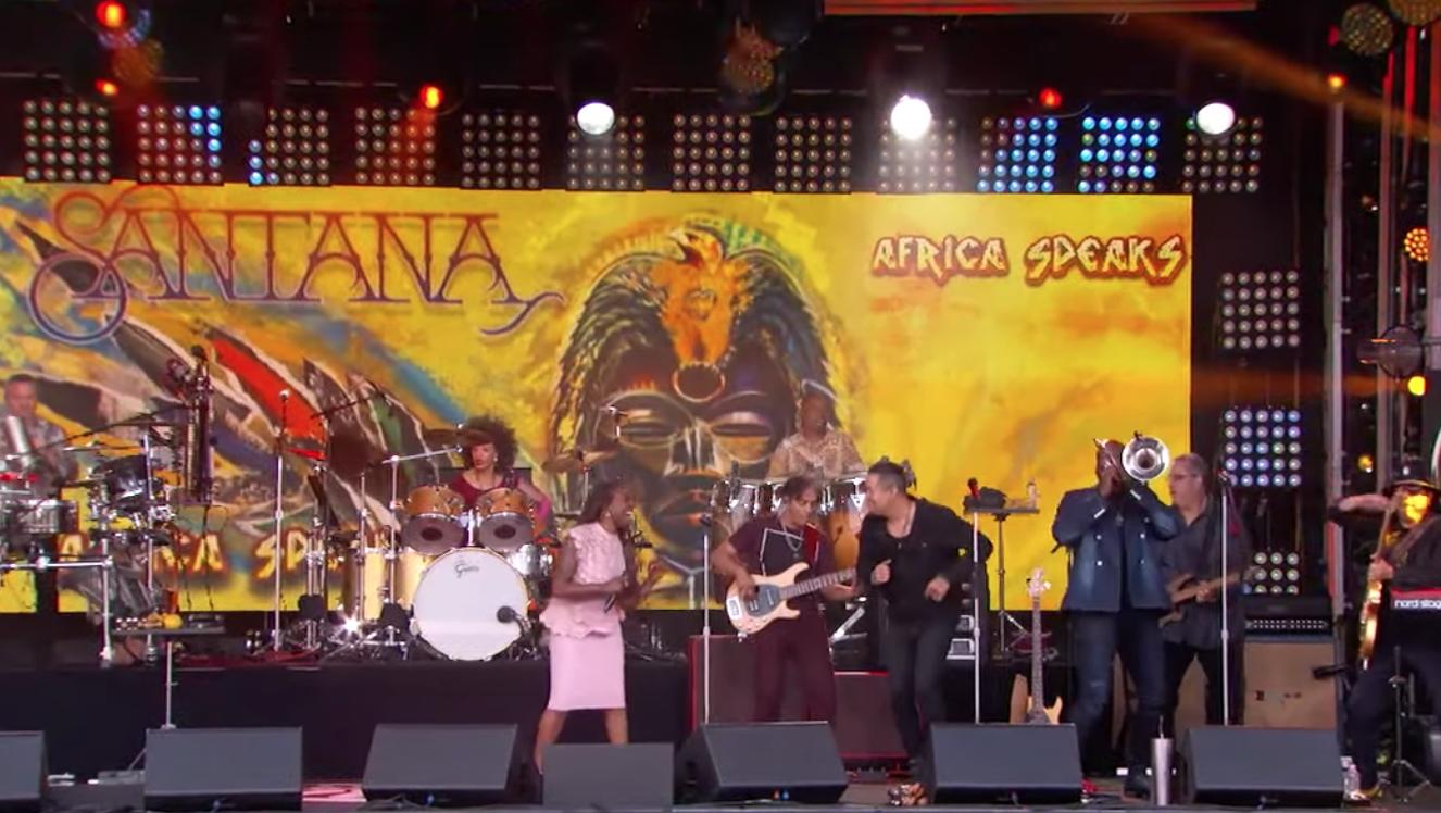 Watch Santana Perform 'Breaking Down the Door' on 'Kimmel