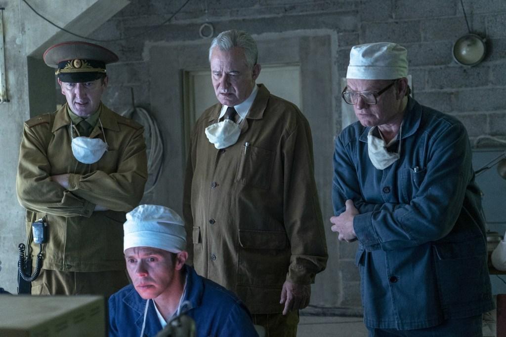 Ralph Ineson, Mark Bagnall, Stellan Skarsgård, Jared Harris.photo: Liam Daniel/HBO