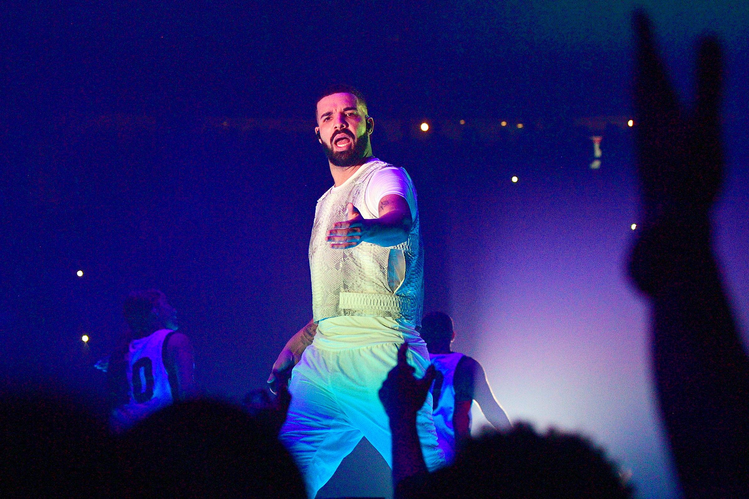 ATLANTA, GA - NOVEMBER 18: Drake performs onstage during the Final Stop of 'Aubrey & The three Amigos Tour' at State Farm Arena on November 18, 2018 in Atlanta, Georgia.(Photo by Prince Williams/Wireimage)