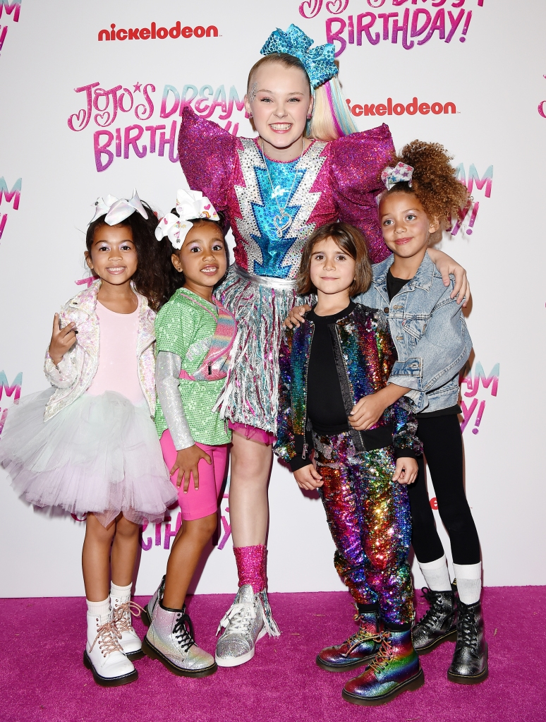 HOLLYWOOD, CALIFORNIA - APRIL 09: (L-R) Ryan Romulus, North West, JoJo Siwa, Penelope Disick and guest attend JoJo Siwa's Sweet 16 Birthday celebration at W Hollywood on April 09, 2019 in Hollywood, California. (Photo by Axelle/Bauer-Griffin/FilmMagic)