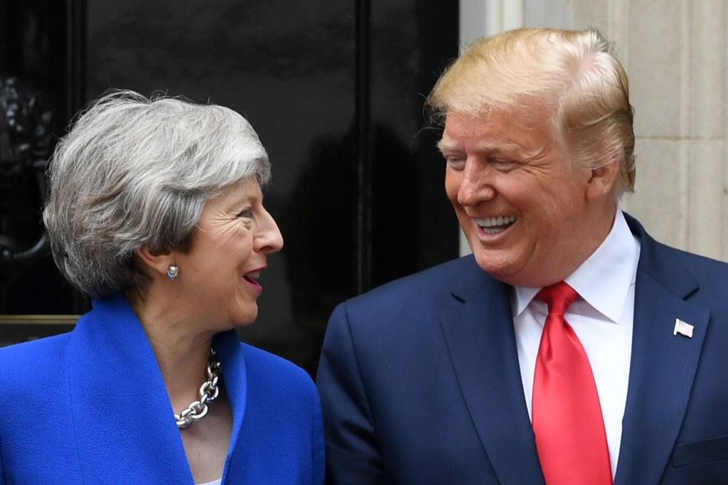 Trump and British Prime Minister Theresa May.