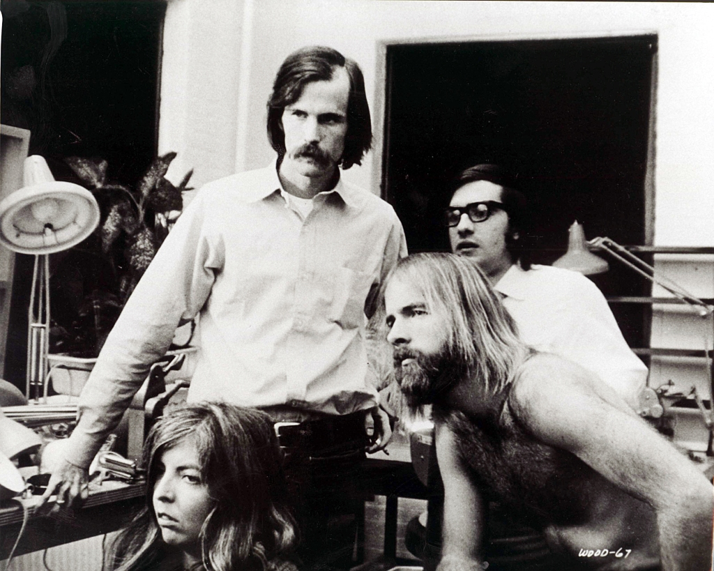 WOODSTOCK, film editor Thelma Schoonmaker, director Michael Wadleigh, film editor Martin Scorsese, 1970Editorial use only. No book cover usage. Mandatory Credit: Photo by Moviestore/Shutterstock (1631302a) Woodstock (On Set) Film and Television