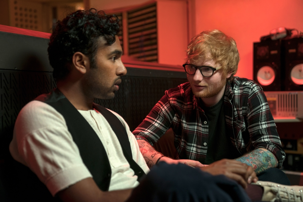 "(from left) Jack Malik (Himesh Patel) and Ed Sheeran (playing himself) in ""Yesterday,"" directed by Danny Boyle."