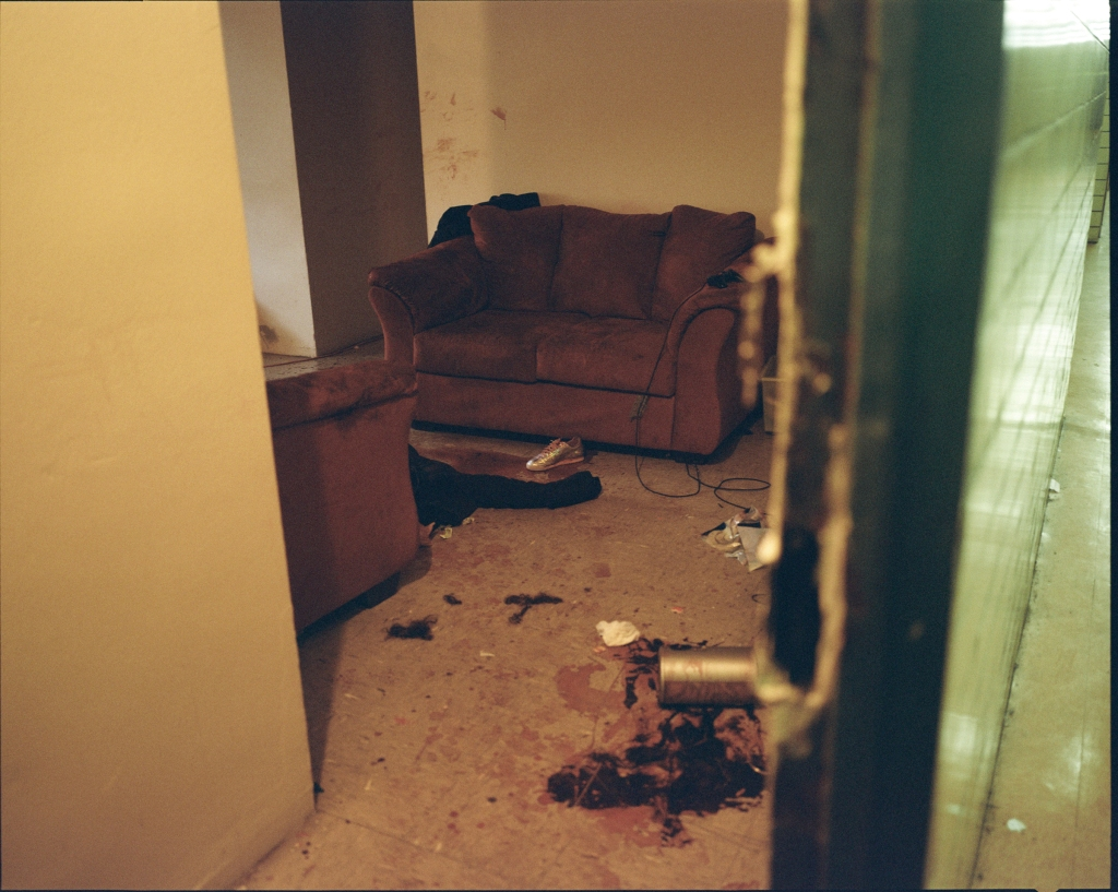 """The scene inside Angela Valle's apartment after the attack. An Uber driver found Valle bleeding outside her building, her throat cut open, and took her to the hospital.""""That's a case you'll remember forever,"""" said one sergeant."""