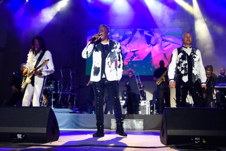 (L-R) Verdine White, Philip Bailey and Ralph Johnson - Earth, Wind and FireSunFest Festival, West Palm Beach, USA - 03 May 2019