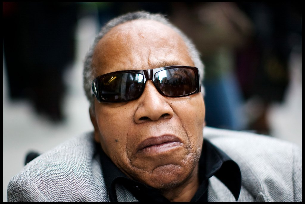 """Frank Lucas, who is the real character that actor Denzel Washington played in the film """"American Gangster,"""" poses in New York City."""