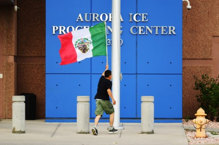 US Flag Replaced With Mexican Flag During ICE Detention