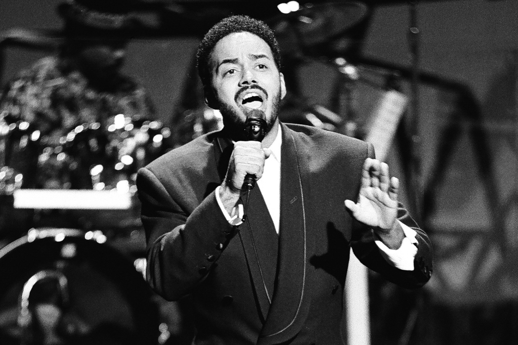 Musical guest James Ingram performing on The Tonight Show on November 9, 1990.
