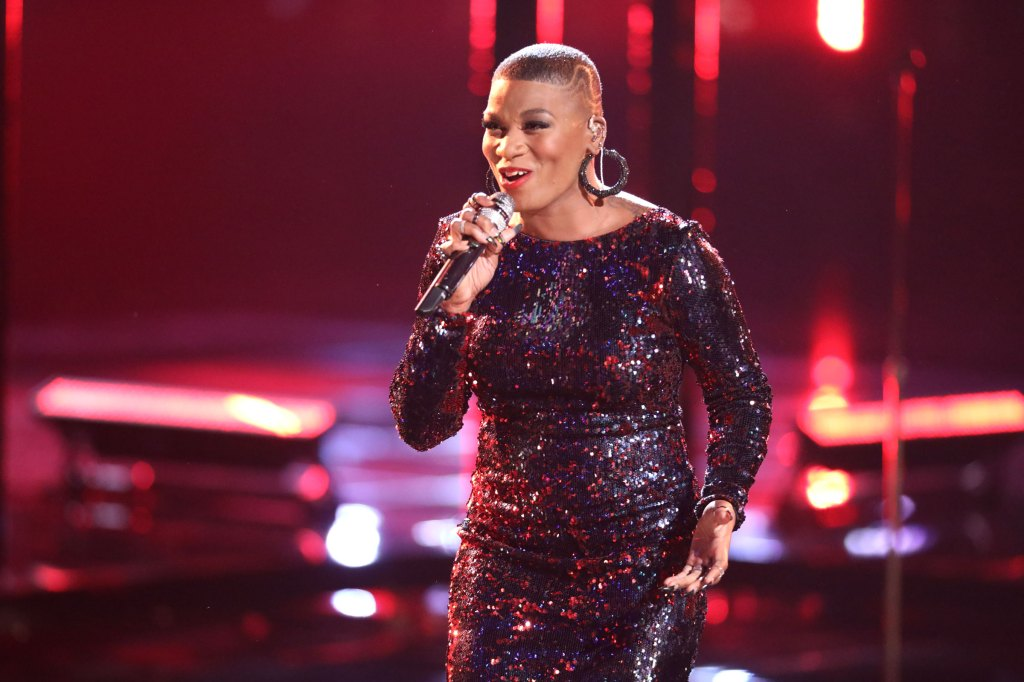 Janice Freeman performing on The Voice.