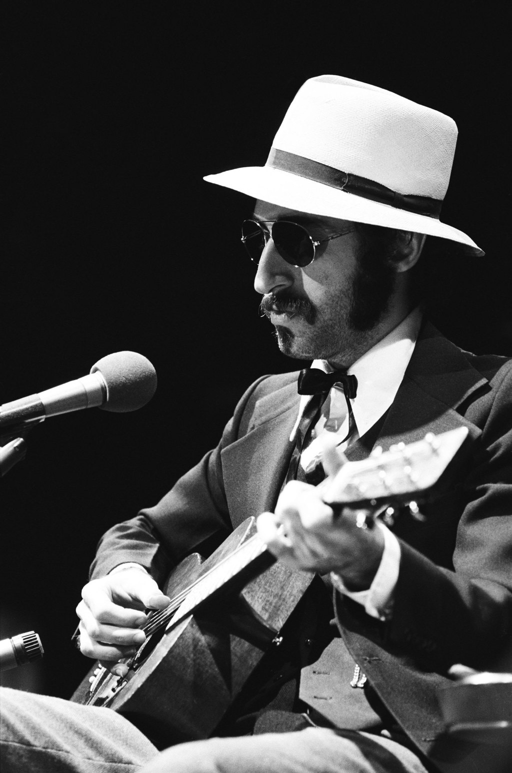 """Saturday Night Live's Musical Guest Leon Redbone during """"Shine on Harvest Moon"""" musical performance on May 29, 1976."""