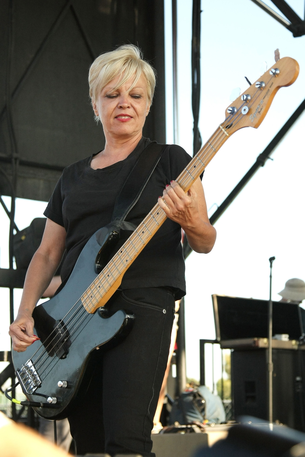 Lorna Doom of The Germs performs at the 2008 Vans Warped Tour in Los Angeles, California.
