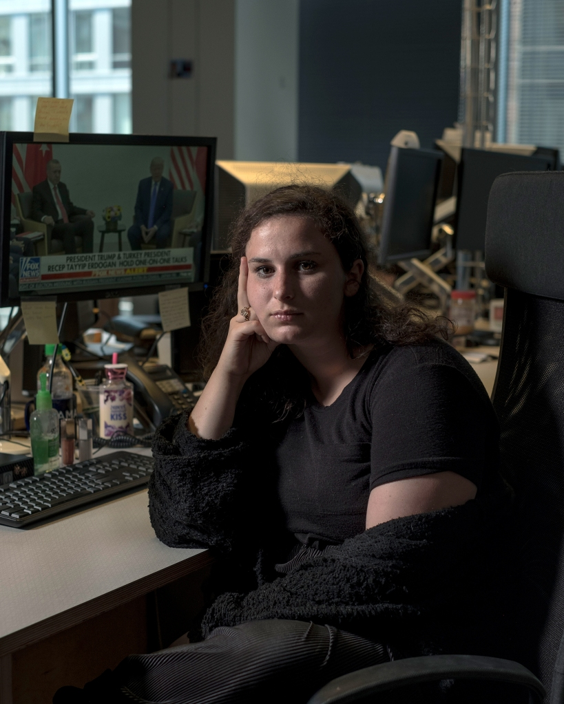 7/1/19, Washington, D.C. Madeline Peltz of Media Matters at her desk in Washington, D.C. on July 1, 2019. Gabriella Demczuk / Rolling Stone