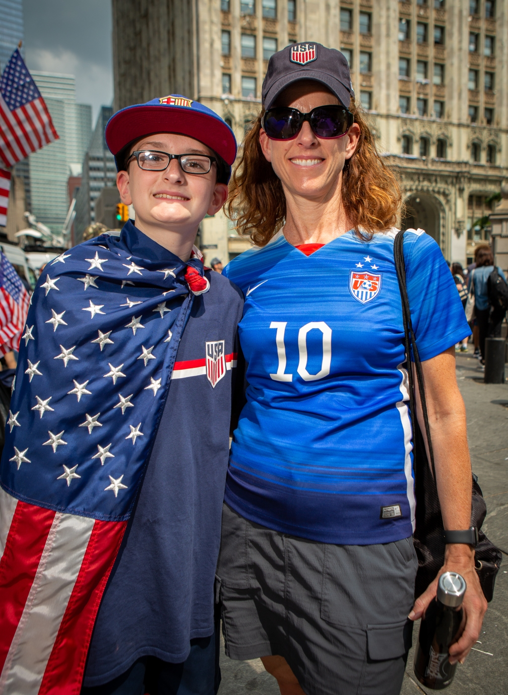 """""""It is really amazing to see them up close and in person,"""" says Michele Schreiner, 47, who took the train from Atlantic City with her 17-year-old son, Adam Schreiner. """"I've been watching them play for years, but its so exciting to be here."""""""