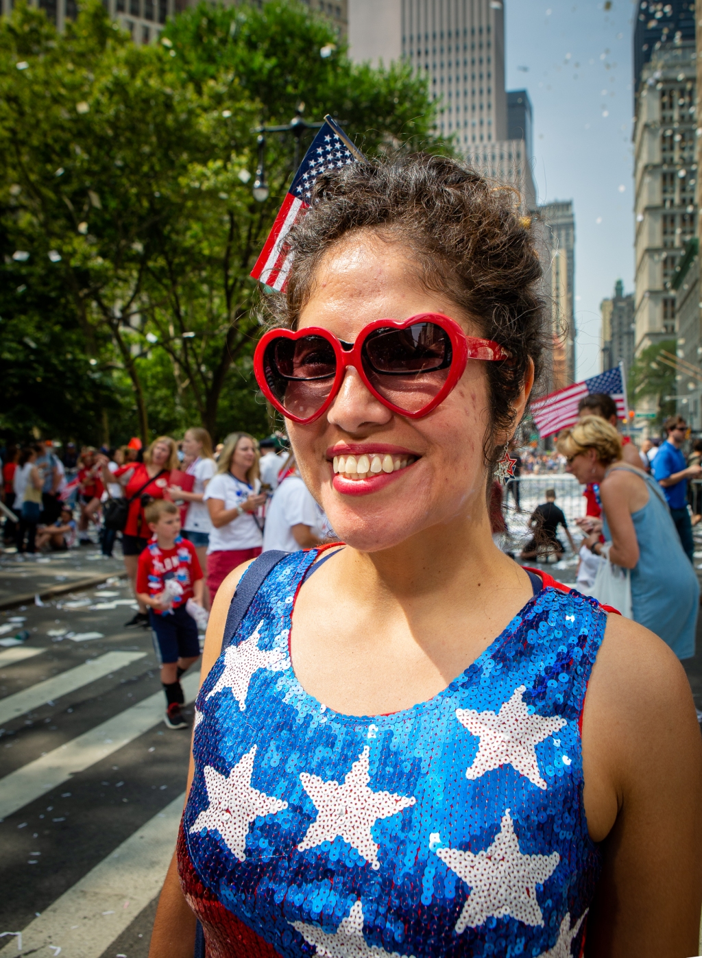 """""""This event represents for me women supporting each other,"""" says Sonia Glenn, 34, who was visiting from Fairfax, Virginia. """"I took the day off to be here. The energy is so inspiring."""""""