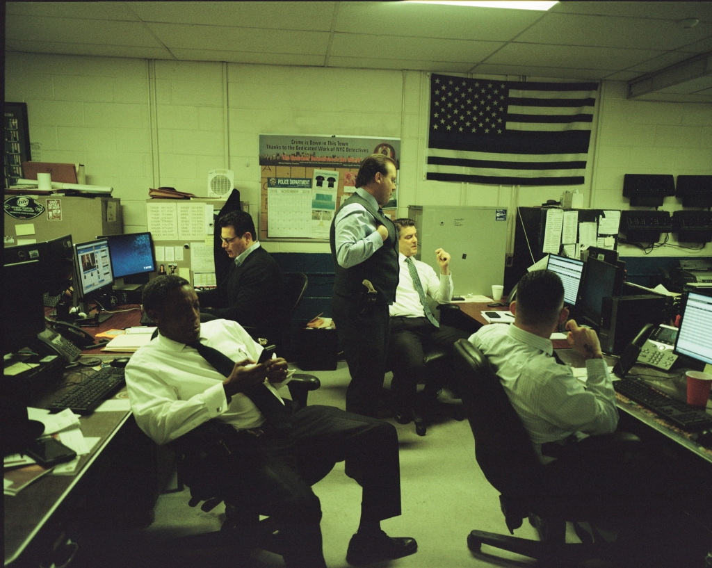 """""""Nobody's welcome in the office. I'm not trying to be a dick. It's been like that for 20 years,"""" says Lt. Samuel Herrera about homicide's 90th Precinct squad room, where Fox News is often playing on a TV atop the file cabinets. With so many files digitized and the abundance of surveillance video, a lot of detective work can be done from a desk. But the job is still all-consuming. """"You have instant access to things, so you're always running stuff on old cases,"""" says Handley. """"It kind of becomes obsessive, or like a passion."""""""