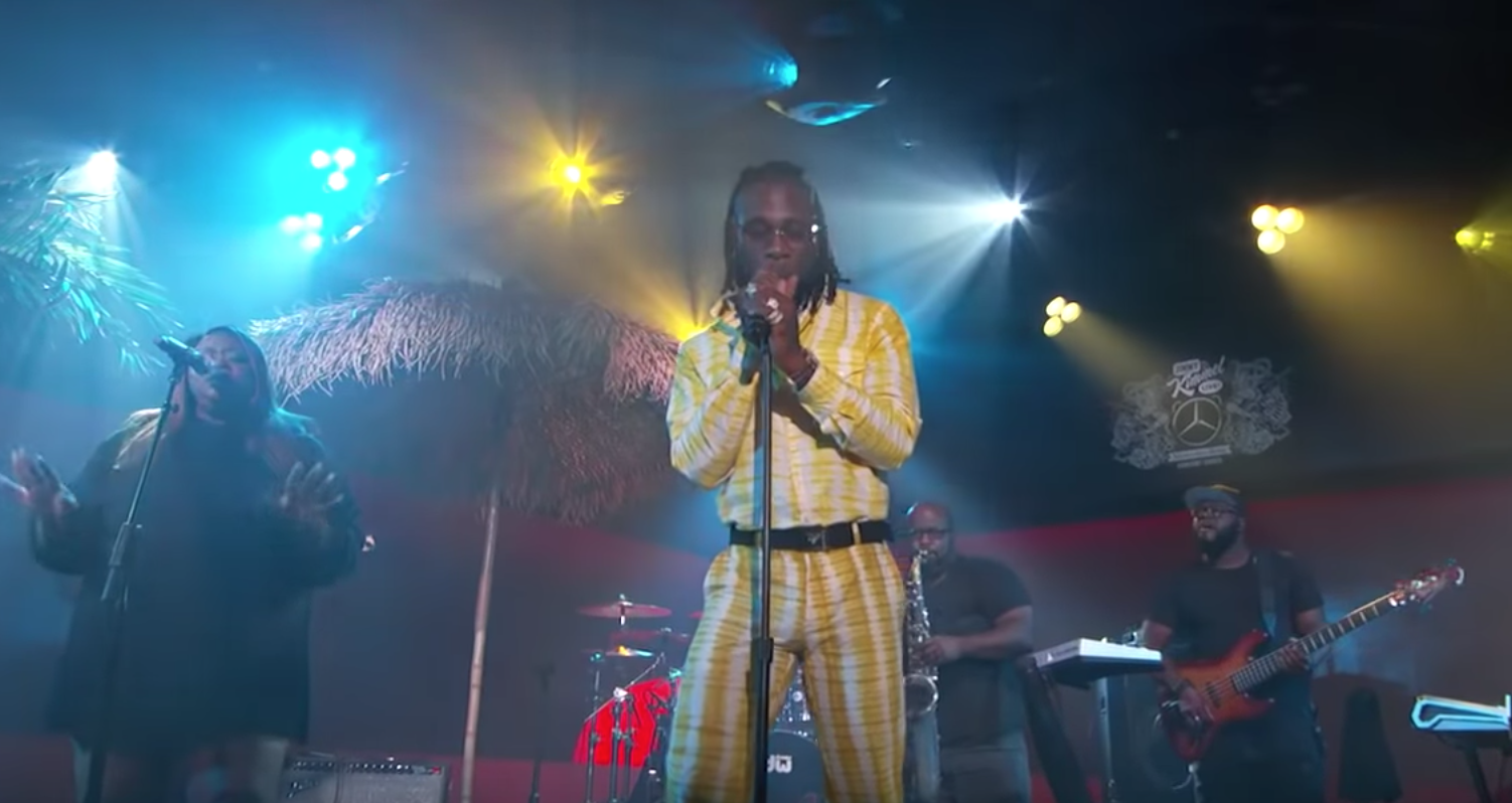 Watch Burna Boy Bring the Vibes With 'Anybody' on 'Kimmel