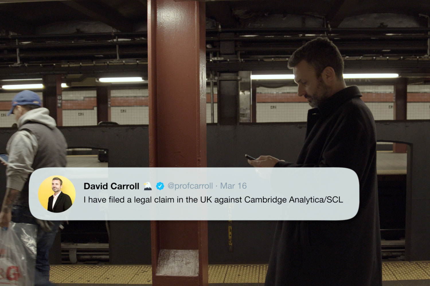 The Great Hack (2019) - pictured:  David Carroll