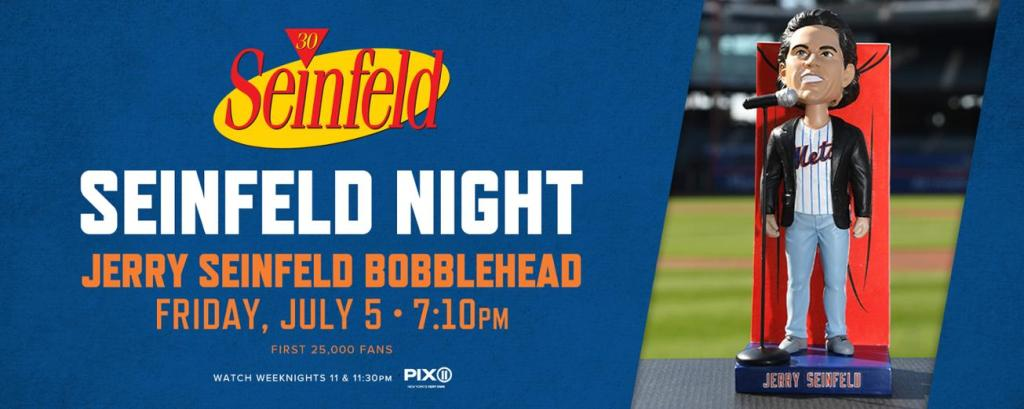 seinfeld night new york mets citifield