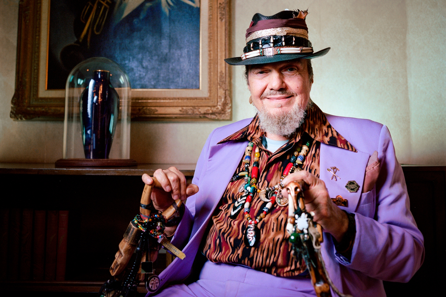 New Orleans musician Dr. John (Malcom Rebbenack, Mac Rebbenack) photographed at the Louis Armstrong House and Museum in Corona, Queens in NYC, on August 14, 2014.