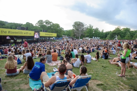COLUMBIA, MD - May 31, 2015 - [The lawn was crowded but the pavilion was mostly empty at the 2015 Sweetlife Festival at Merriweather Post Pavilion in Columbia, MD. (Photo by Kyle Gustafson / For The Washington Post via Getty Images)