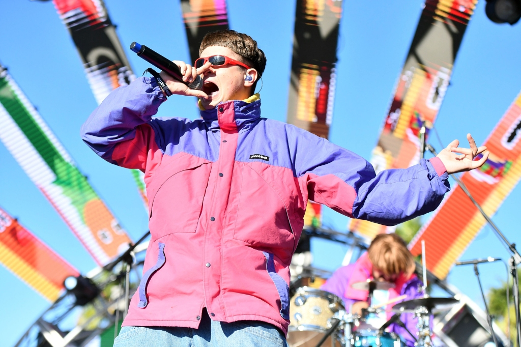 LONG BEACH, CA - SEPTEMBER 29: Singer Oliver Tree performs onstage during Music Tastes Good Festival at Marina Green Park on September 29, 2018 in Long Beach, California. (Photo by Scott Dudelson/Getty Images)