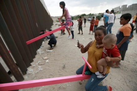 Border Wall Architecture Project: Seesaw Lets Children Play