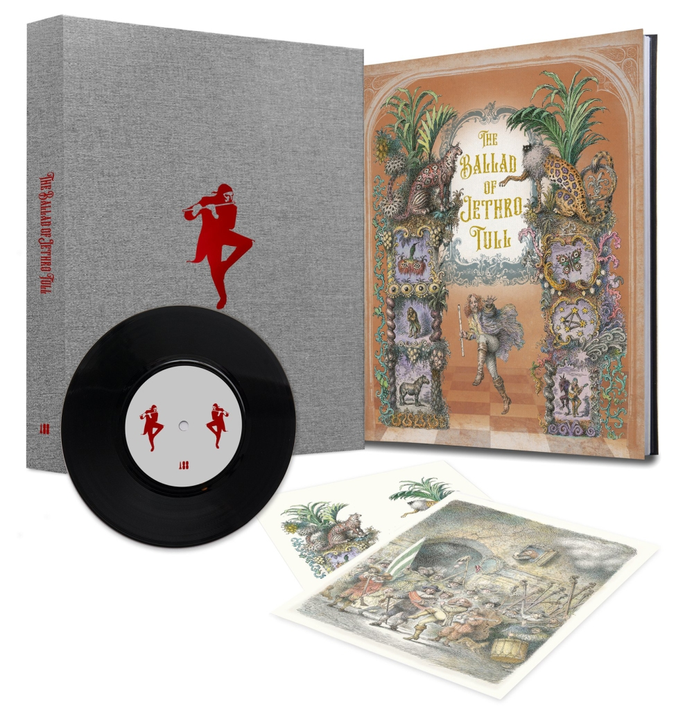 Book of Opeth, the Signature Edition box set, showing limited edtion book, prints and vinyl EP. Only 500 copies worldwide.