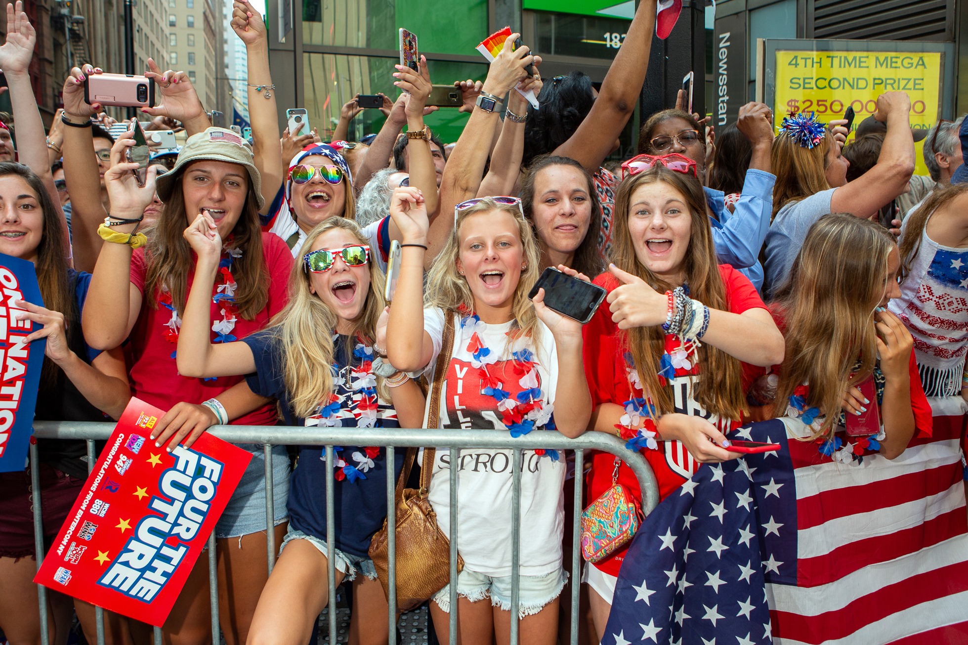 U.S. Women's Soccer Ticker-Tape Parade in NYC: Photos