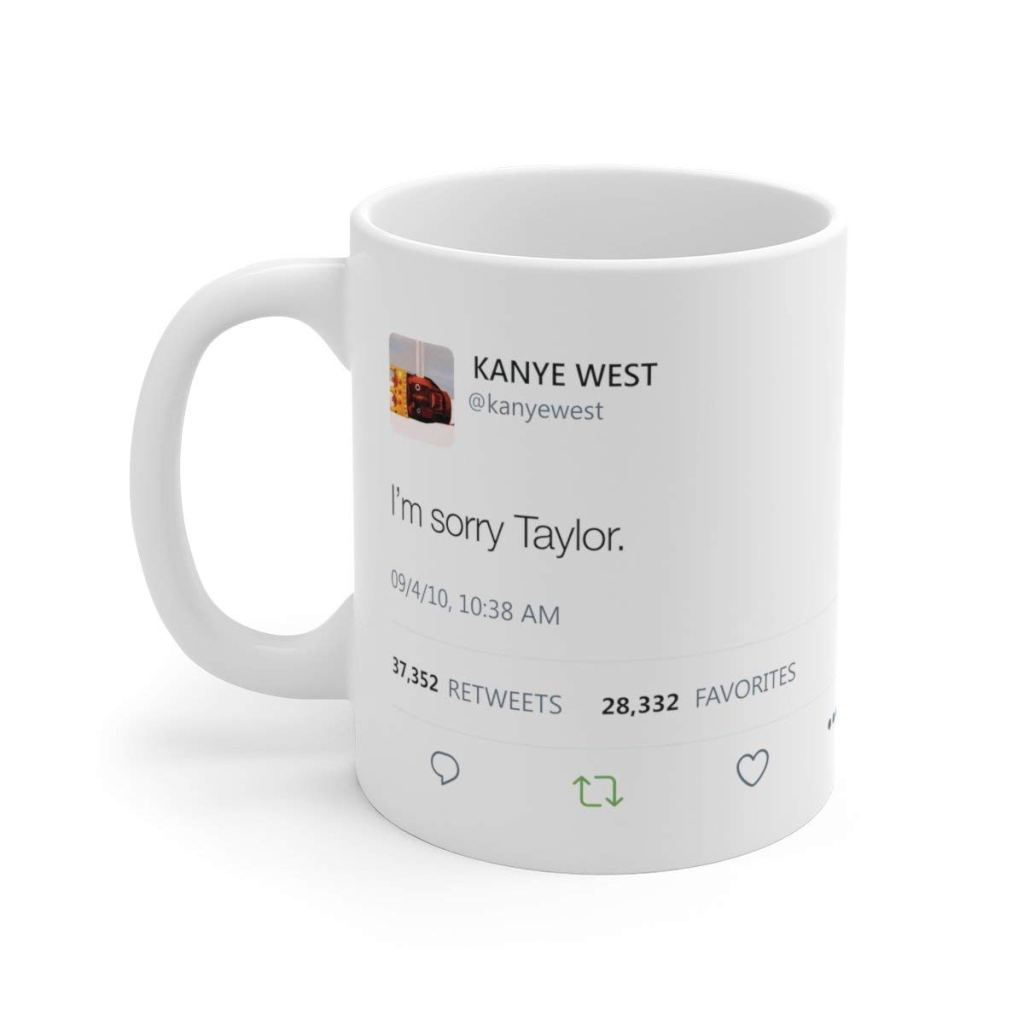 kanye apology taylor swift merch