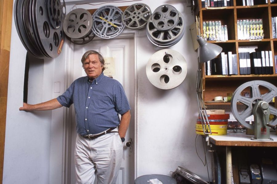 NEW YORK - AUGUST 25:  Film director D.A Pennebaker at his offices at 262 W 91st Street on August 25, 1995 in New York City, New York. (Photo by David Corio/Michael Ochs Archive/Getty Images)