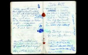 Joe Strummer's notebook.