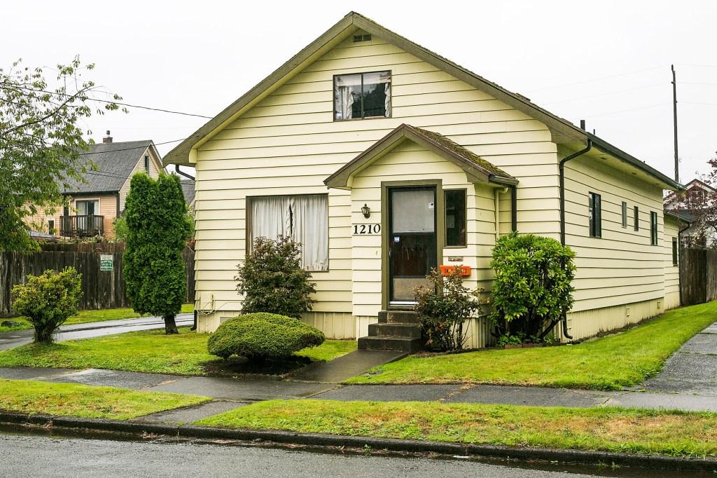 Kurt Cobain's childhood home in Aberdeen, Washington.