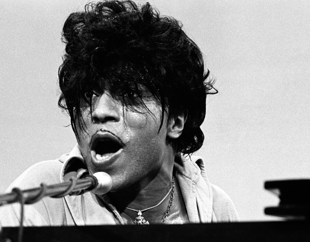 """Little Richard on a TV show in 1967. The rock & roll innovator was on the comeback trail. """"That was really wild,"""" Wolman says of the performance. """"I couldn't believe what I saw."""""""
