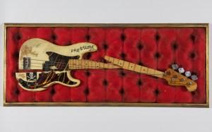 "Paul Simonons' Fender guitar from ""London Calling."""