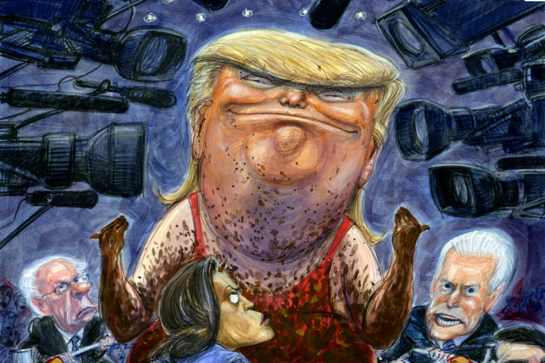 Illustration by Victor Juhasz for Rolling Stone