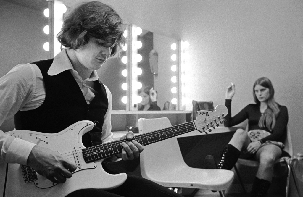 """Steve Miller backstage in 1972. """"It's a story of a guitar and a woman,"""" Wolman says. """"There's something symbolic about that."""""""