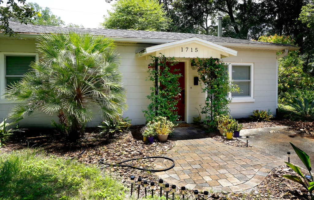 The childhood home of rock legend Tom Petty at 1715 NE 6th Terr. in Gainesville Florida.