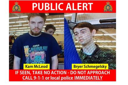 Canadian Police Find Bodies of 2 Teens Wanted for Murder