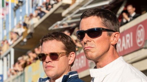 Matt Damon and Christian Bale in Twentieth Century Fox's FORD V. FERRARI.