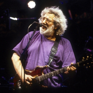LAS VEGAS, NV - JUNE 25: Jerry Garcia performing with 'the Grateful Dead' at the Sam Boyd Stadium in Las Vegas, Nevada on June 2, 1994. (Photo by Larry Hulst/Michael Ochs Archives/Getty Images)